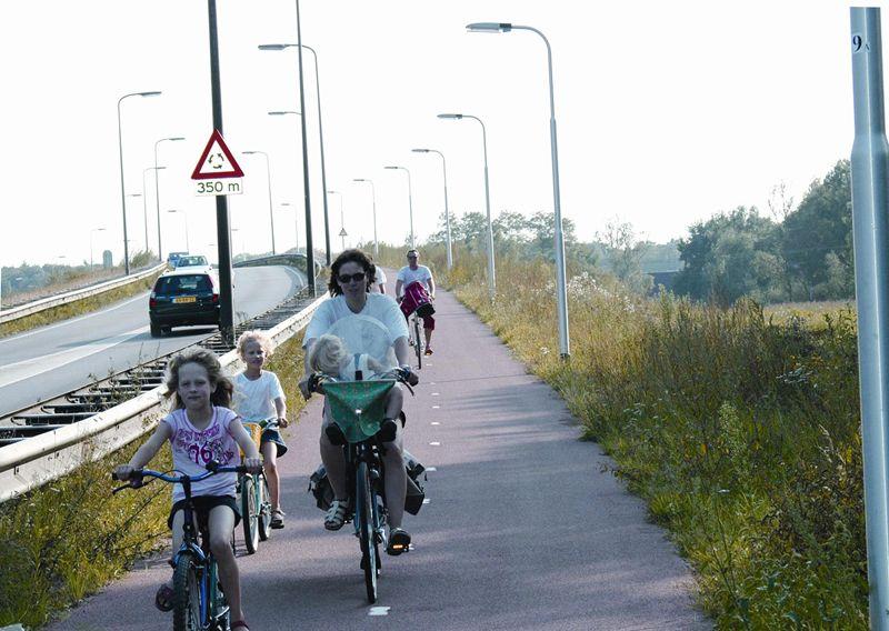 Fietser in omgeving Tilburg