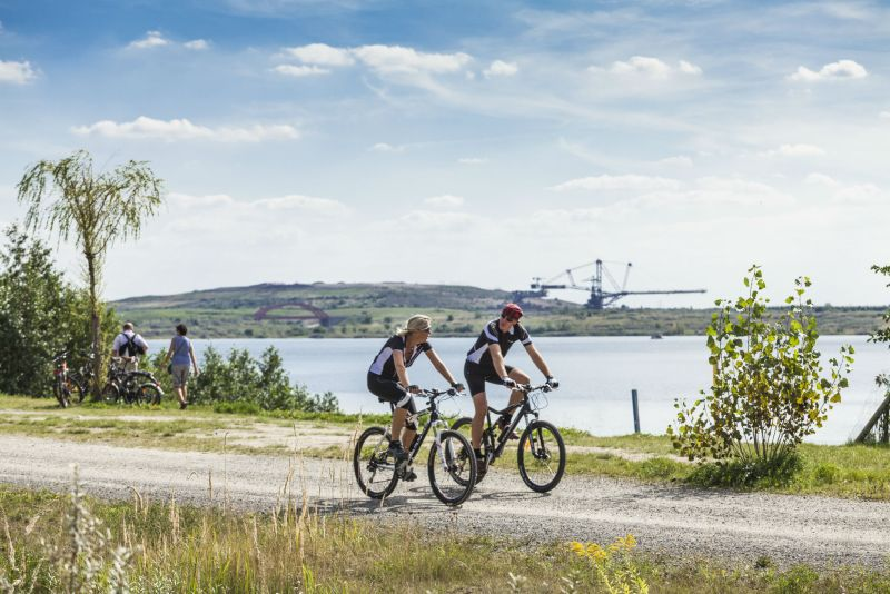 Neuseenland-Radroute 1 (radfahrer am Markkleeberger See)