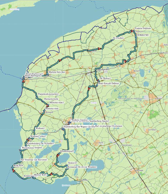 `De 11 Friese steden 223 km