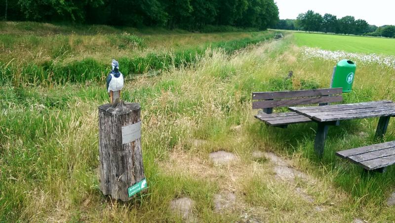 Standbeeld Weide vogels nabij Soerendonk