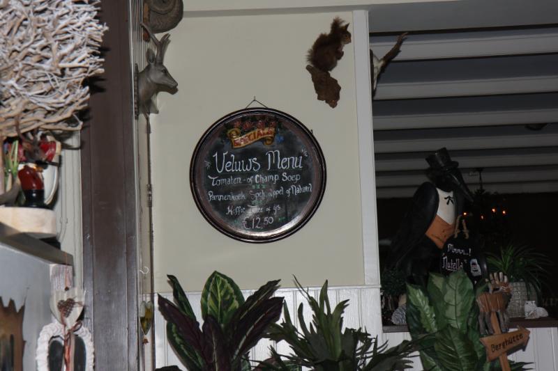 Veluws Menu in Pannenkoekenrestaurant Kootwijkerduin