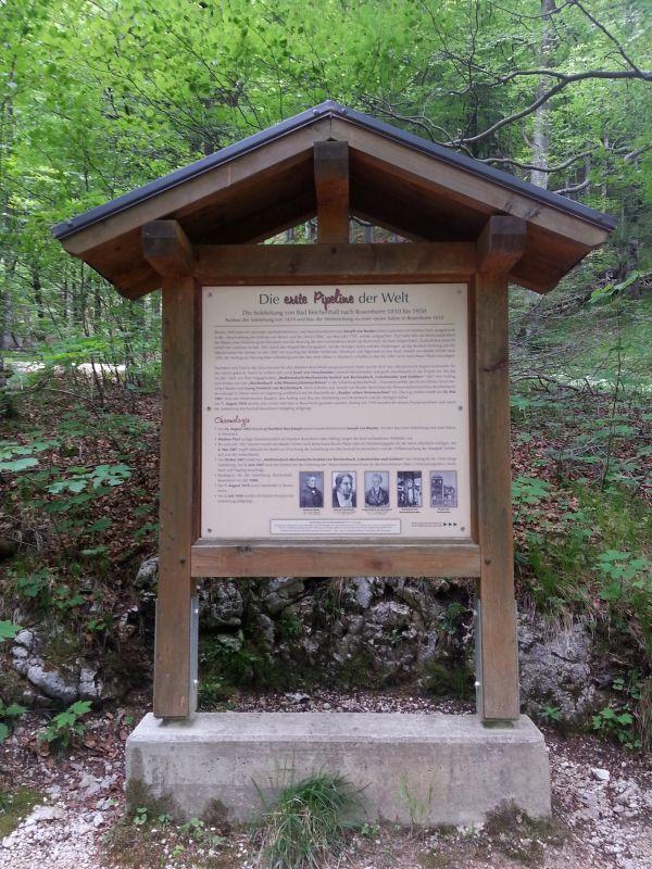 Inzell - Drei-Almen-Wanderung - sommer weissbachfaelle salinenweg tafel erste pipeline der welt_ew