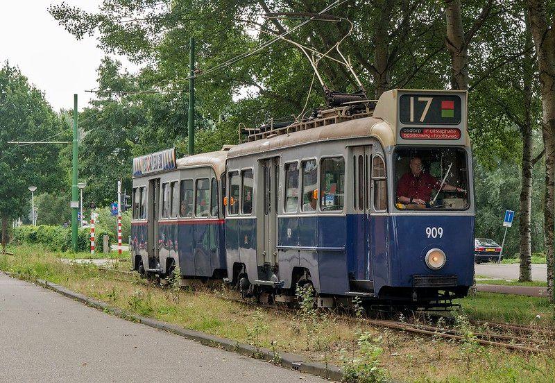 Amsterdam Museum Tram 909 richting Haarlemmermeerstation