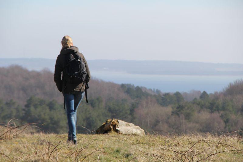 2. i nationalpark mols bjerge med udsigt over ebeltoft vig.