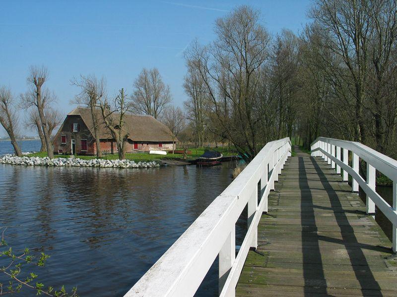 Fietsbrug bij Hoogmade