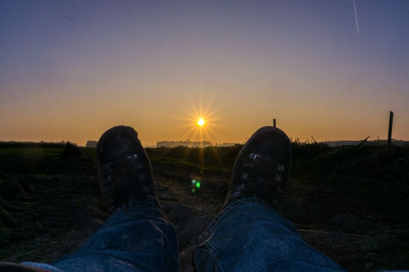 zonsondergang bollenstreek