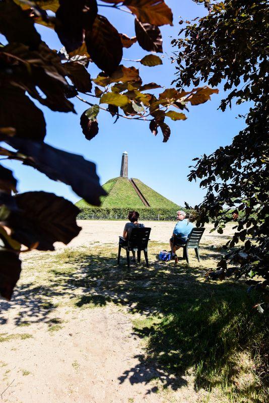 Uitzicht over Pyramide van Austerlitz