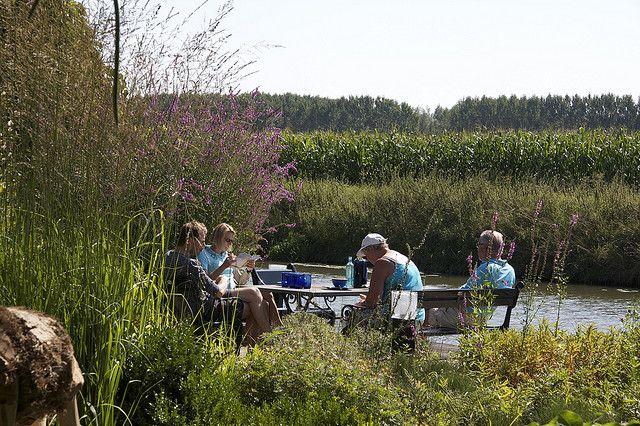 Picknicken aan het water