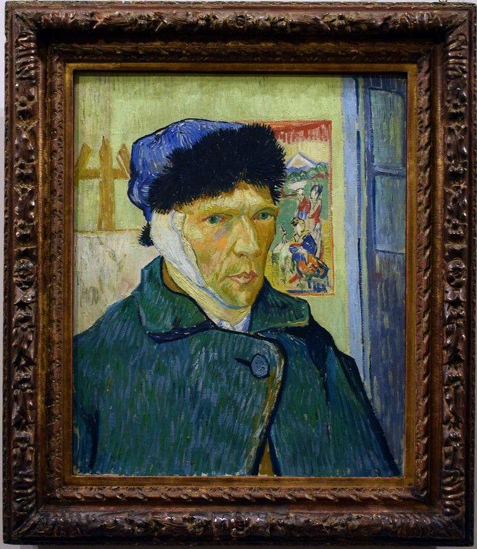 Self-Portrait with Bandaged Ear byVincent Van Gogh