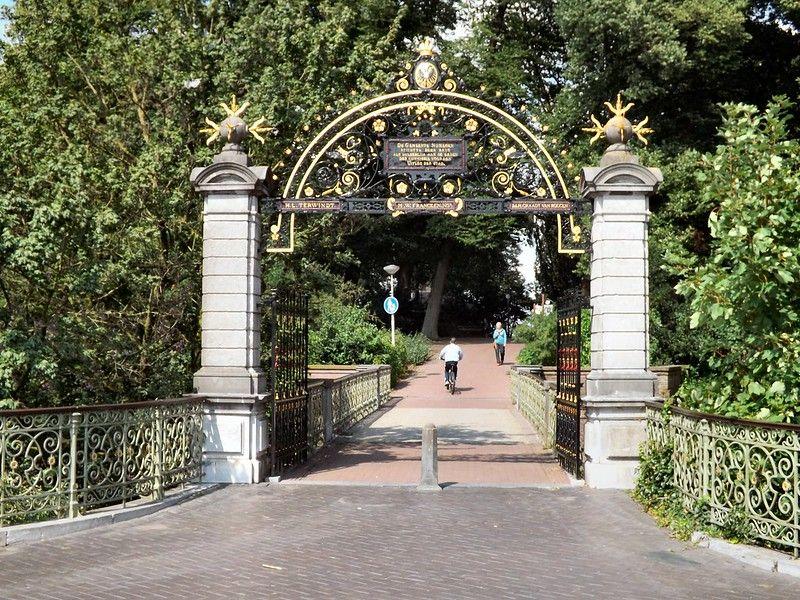 The entrance to Valkhof Park in Nijmegen