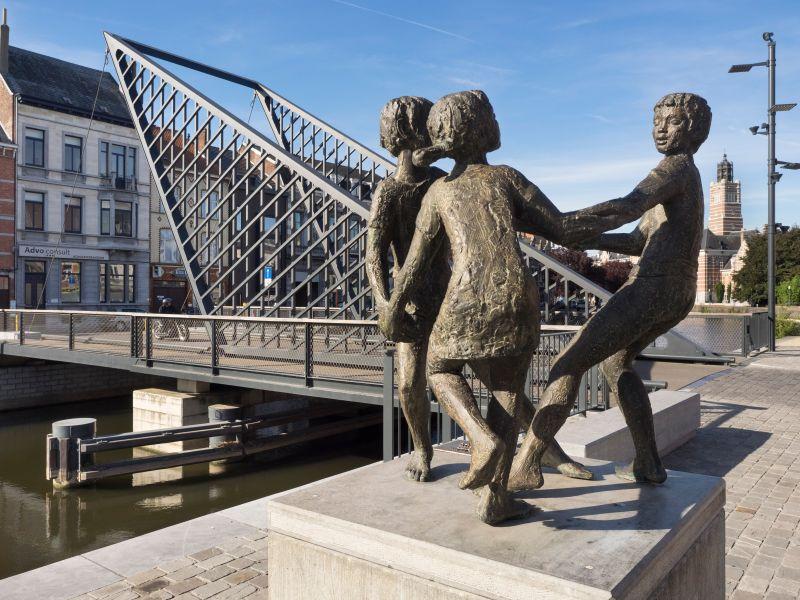 Dansende kinderen Oude Dender