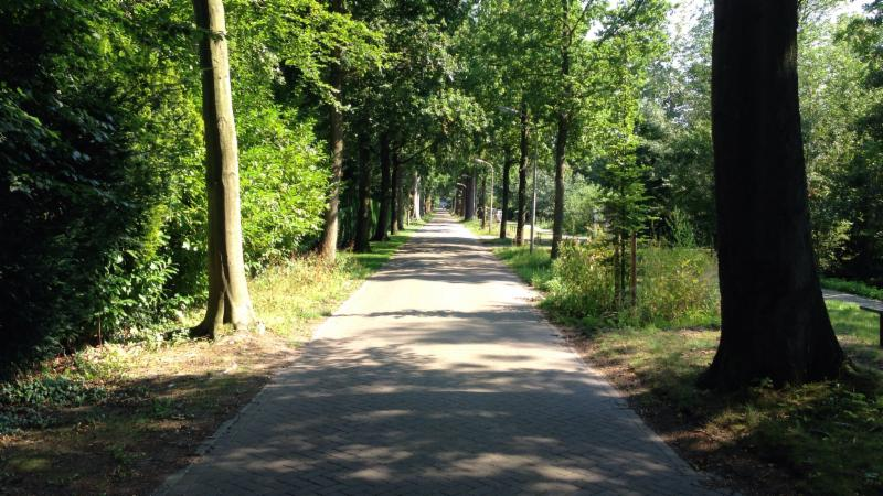 Aan het einde links ligt Kasteel Oud Wassenaar