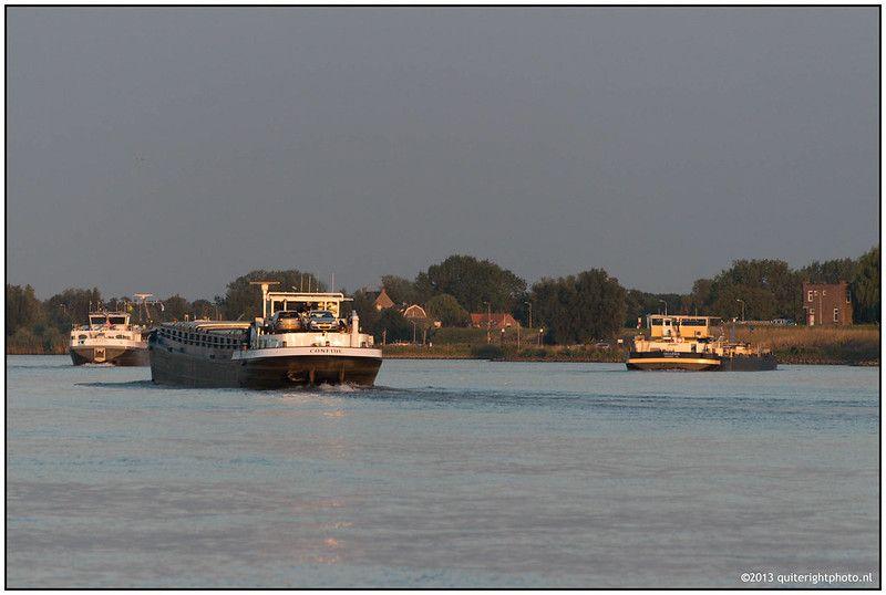 Sunset on the river Lek