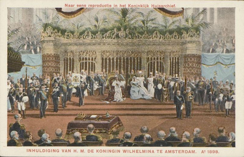 Inhuldiging Wilhelmina Nieuwe Kerk