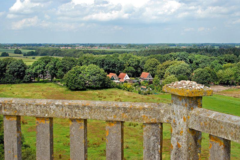 View uitkijktoren, Belvedere Oranjewoud, Friesland, Nederland