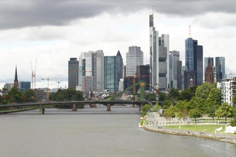 Skyline van de Duitse meester brug