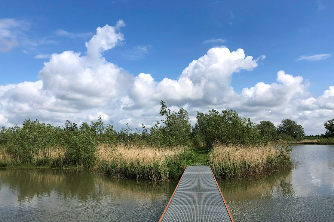 Camina por el agua en Jantjesplaat