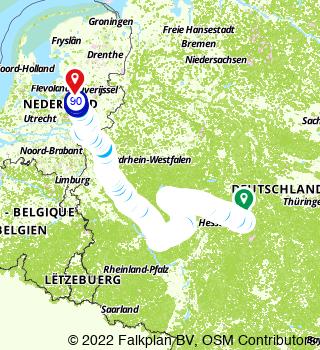 Route from Fulda to Apeldoorn,