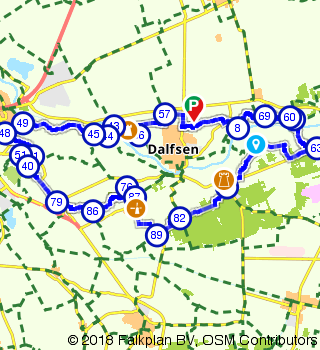 Historical route through the Overijssels Vechtdal near Vilsteren