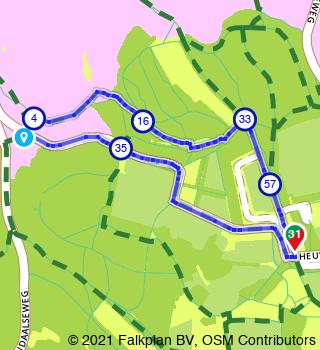HanzeTour Landgoed Heuven 2,3 km