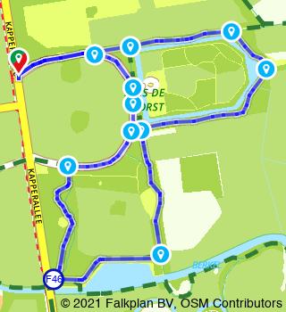 HanzeTour Landgoed De Voorst wandelroute (3,5 km)