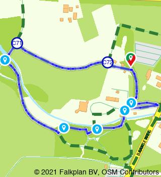 HanzeTour Kasteel Hackfort wandeling (1,3 km)