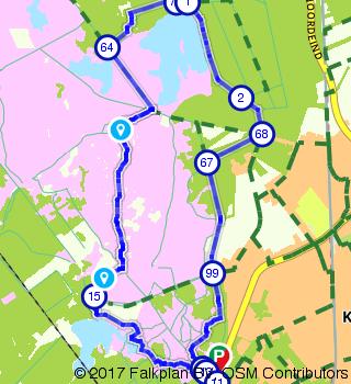 Dwars over de Kalmthoutse Heide wandelen