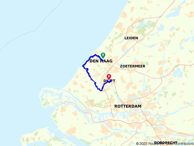 Von Uffenbach Route deel 12 (Den Haag - Delft)