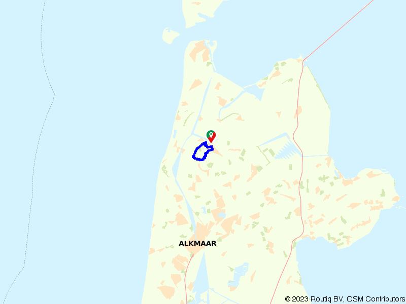 De West-Friese Omringdijk bij Schagen