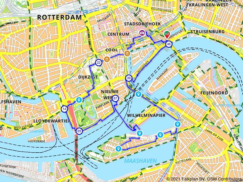 Wandelen langs Rotterdamse iconen