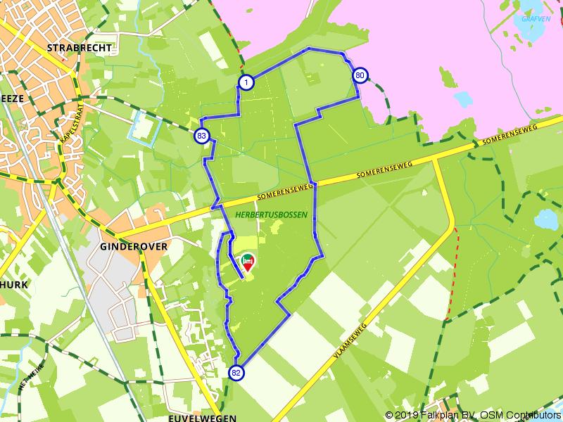 Wandelroute Strabrechtse Heide, Herbertusbossen en de Sterkselse Aa
