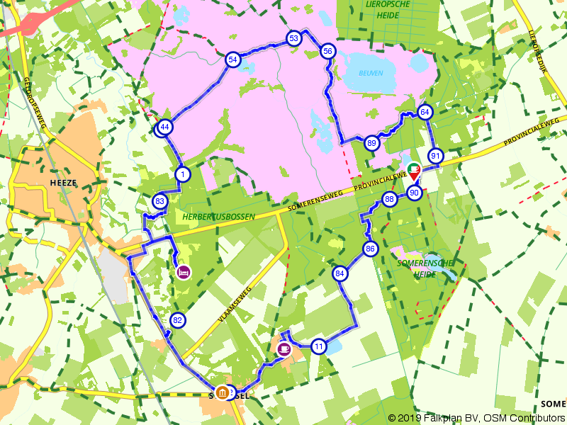 Lekkerbekkenroute Strabrechtse Heide