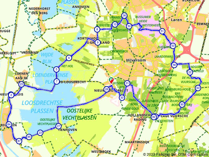 Rondje Loosdrechtse Plassen en Hilversum