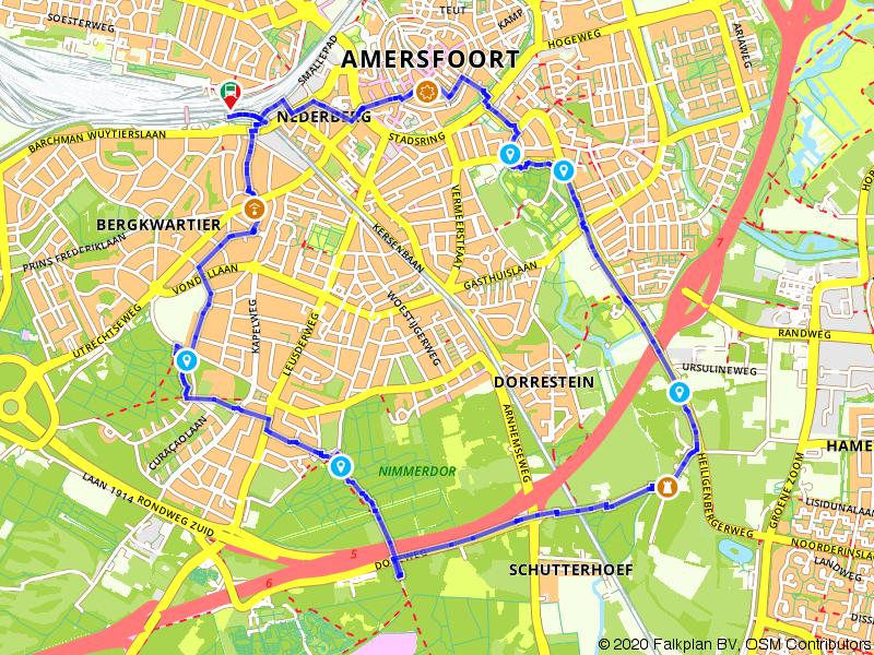 Groene wandelroute door Amersfoort