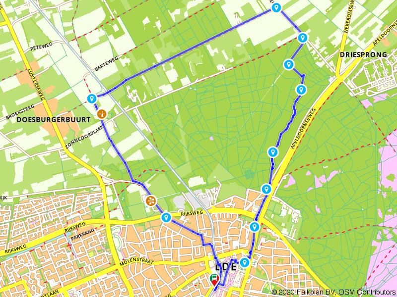 Treinwandeling: rondje Huis Kernhem vanuit Ede