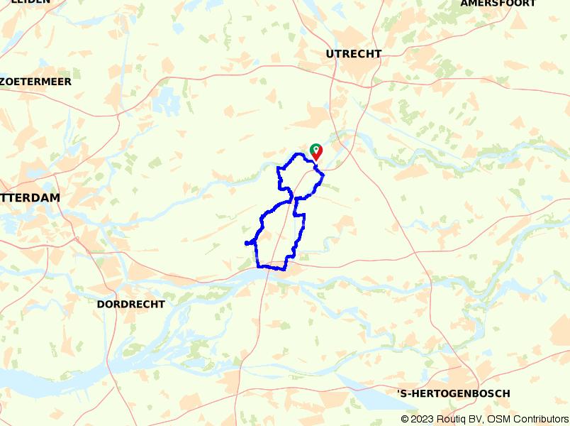 Molenroute langs Lexmond, Meerkerk en Noordeloos