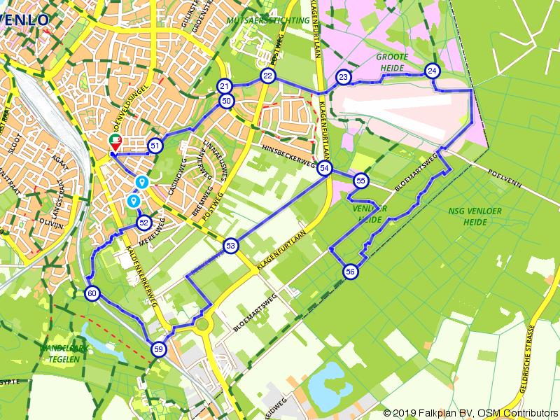 Route over de Grote Hei en het Jaomerdal