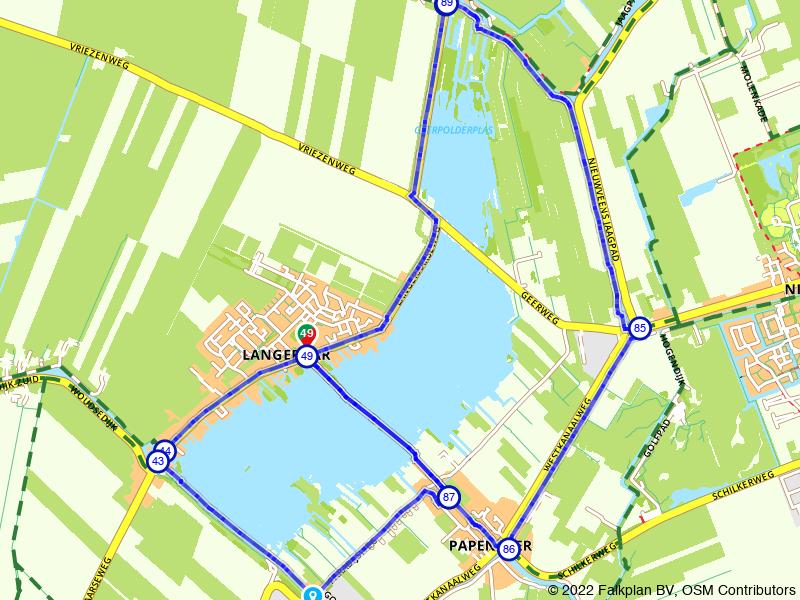 Achtje wandelen om de Langeraarseplas