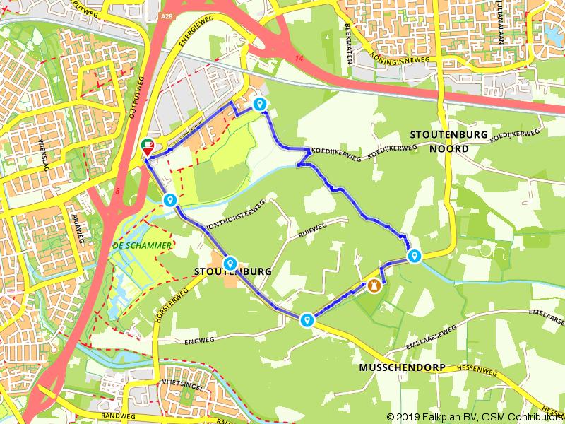 Rondje wandelen bij Kasteel Stoutenburg