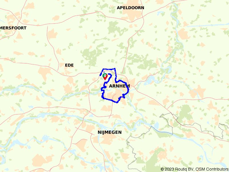 Rondje Arnhem via Oosterbeek en Huissen