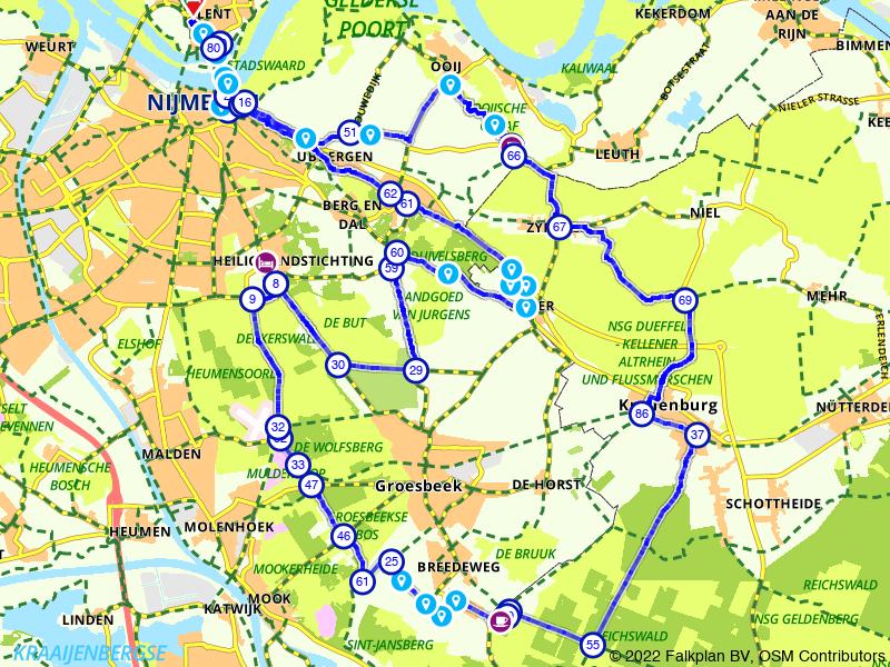 Bos, Berg en Dal rondje vanuit Nijmegen
