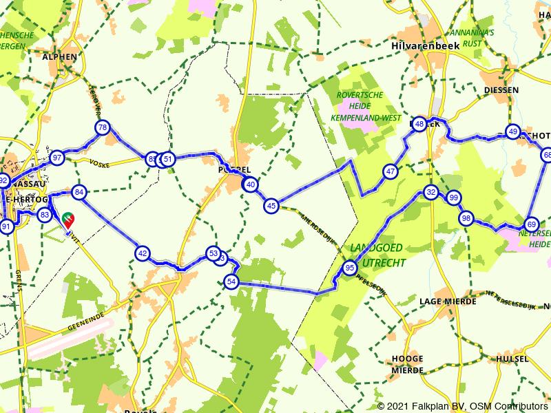 Rondje Landgoed de Utrecht vanuit Baarle