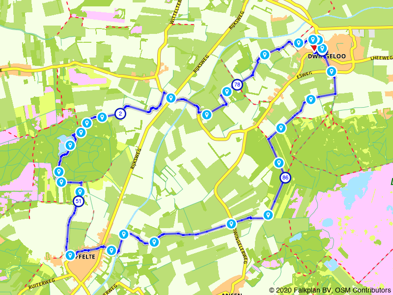 De Ster van Dwingeloo route Branderveen