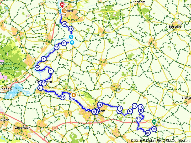 Jacob van Lennep-route, Deel 28 (Varsseveld - Zutphen)
