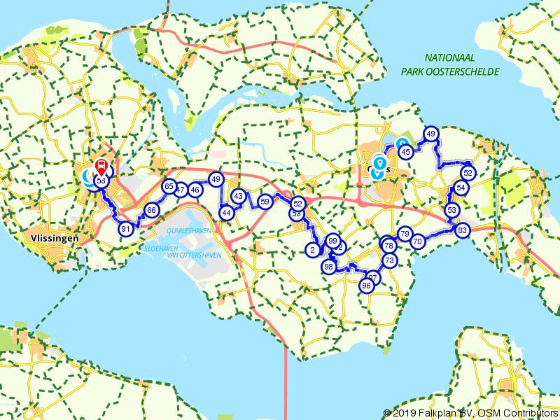 Jacob van Lennep-route, Deel 39 (Goes - Middelburg)