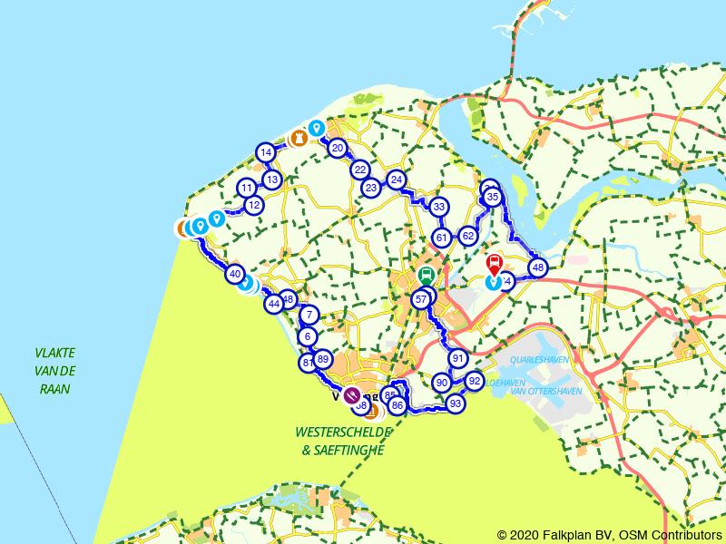 Jacob van Lennep-route, Deel 40 (Middelburg - Veere - Arnemuiden)