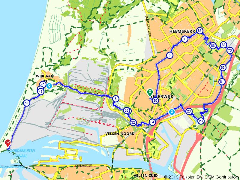 Beverwijk VelsenNoord via Broekpolder