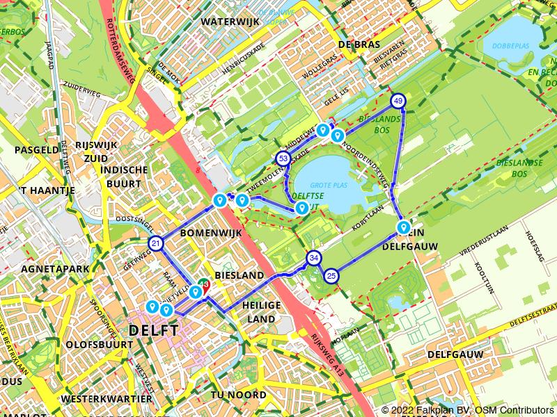 Rondje Delft en Delftse Hout