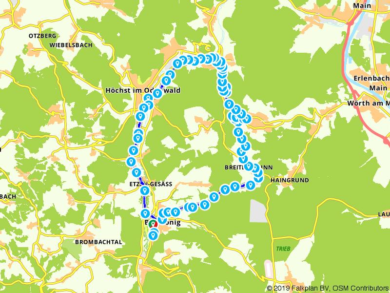 Fietstour in Noordelijk Odenwald - RMV-Radtour 7b