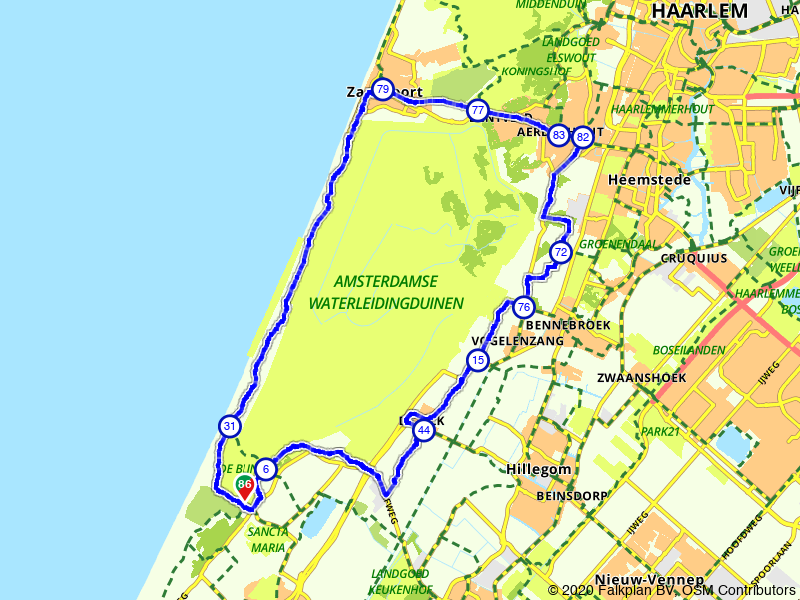 Duinenroute: fietsen rondom de Amsterdamse Waterleidingduinen